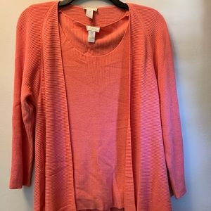Two Piece sweater knit Chicos top